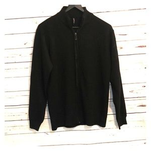 Black zip up sweater men's XXL